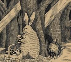 插图师羊皮卷上的涂鸦