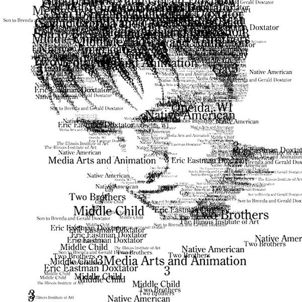 人像与字体的惊人组合