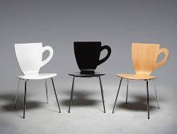 创意的咖啡杯座椅