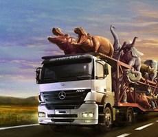 夸张的卡车广告