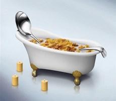 麦片广告设计
