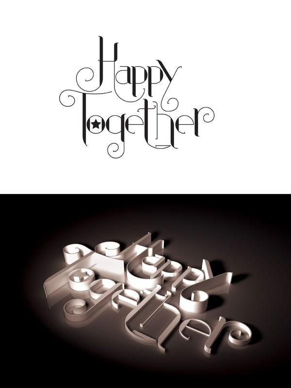 超创意的英文字体设计欣赏