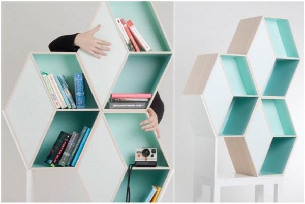 时尚现代和模块化的创意书架设计