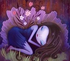 唯美梦幻的可爱女孩