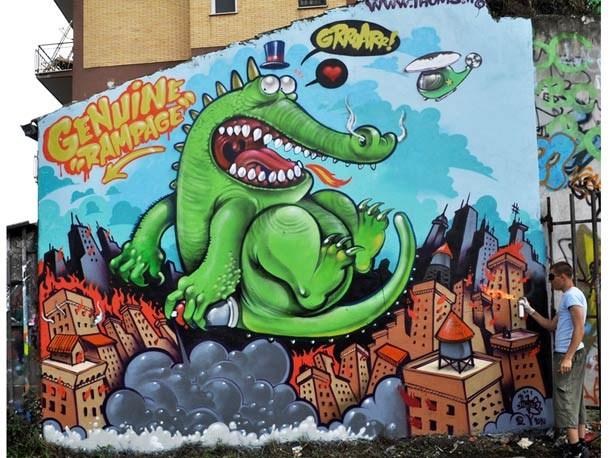街头涂鸦艺术作品