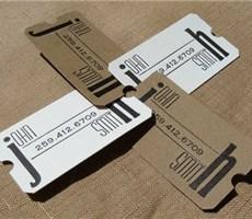 环保的再生纸名片设计