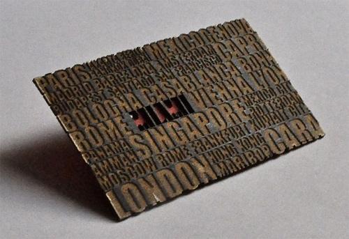 16款创意激光切割名片设计