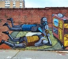 Pixel Pancho街头艺术作品