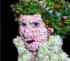 抽象的蔬菜肖像