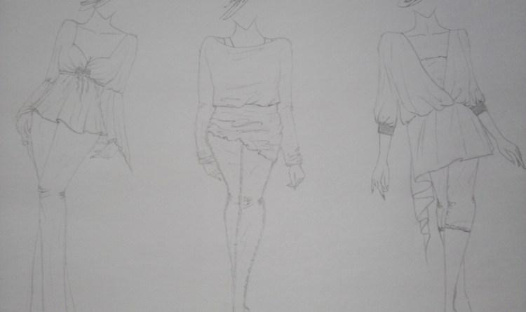 手绘服装效果图