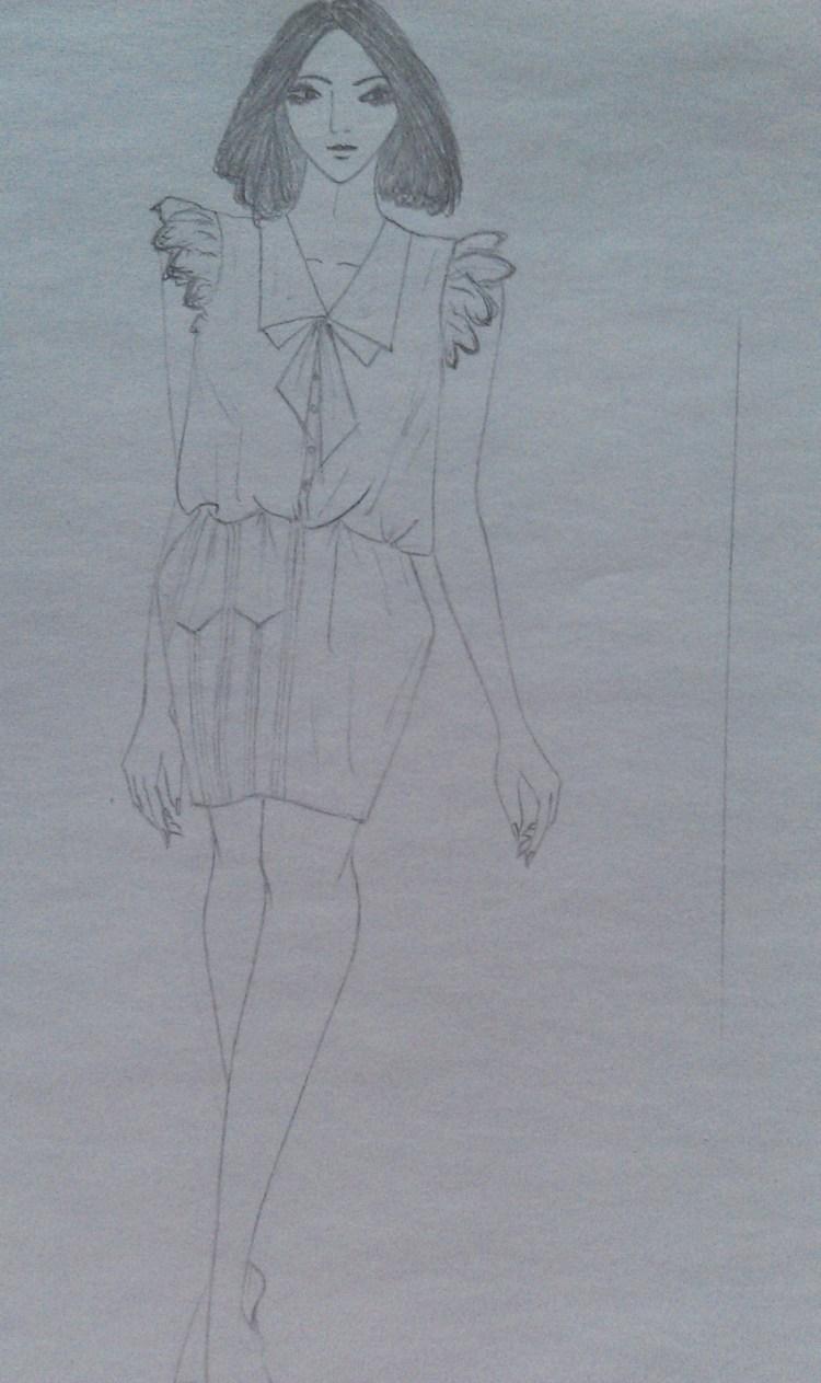 设计图稿手绘服装效果图-中国设计网