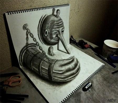 3D手绘铅笔画