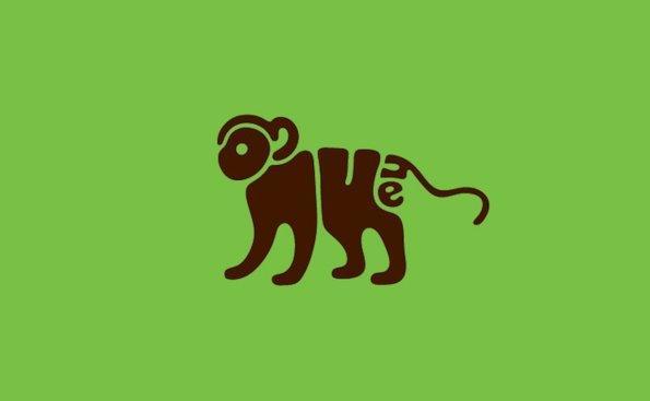16个英文字母变形动物logo设计