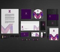 一套紫色主题VI设计