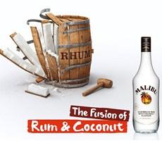 MALIBU酒广告:朗姆酒和椰子的完美融合