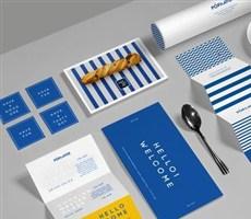 蓝色系餐厅形象设计