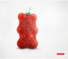 水果软糖HARIBO平面广告