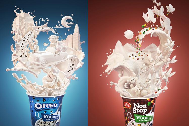 极具创意的酸奶海报欣赏-中国设计网