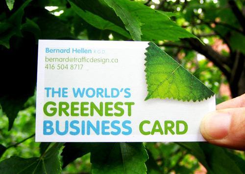 别致的绿色名片设计欣赏