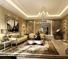 天安花园别墅欧式风格设计