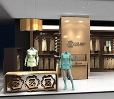 ZD服装中岛专卖店空间设计,店中店设计;