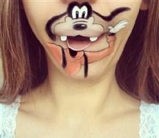 嘴唇上的卡通,可爱爆了