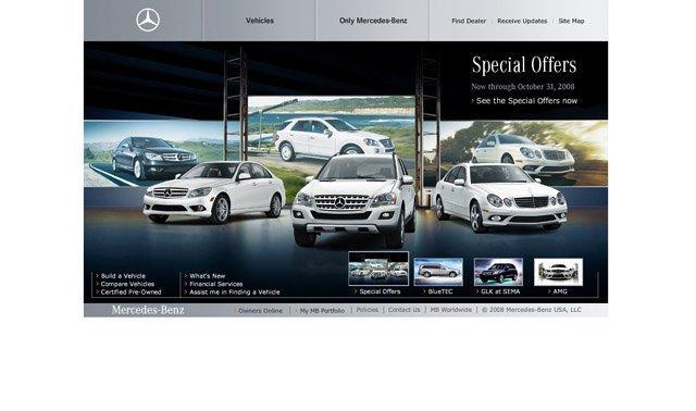 精美的汽车类网页界面设计