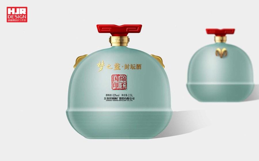 梦之蓝封坛酒-中国设计网