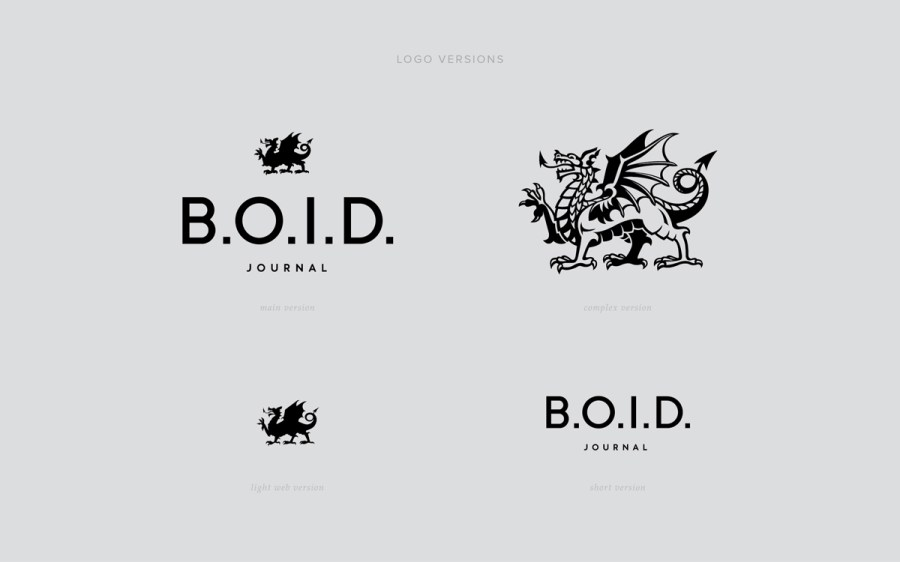 B.O.I.D.在线杂志VI设计