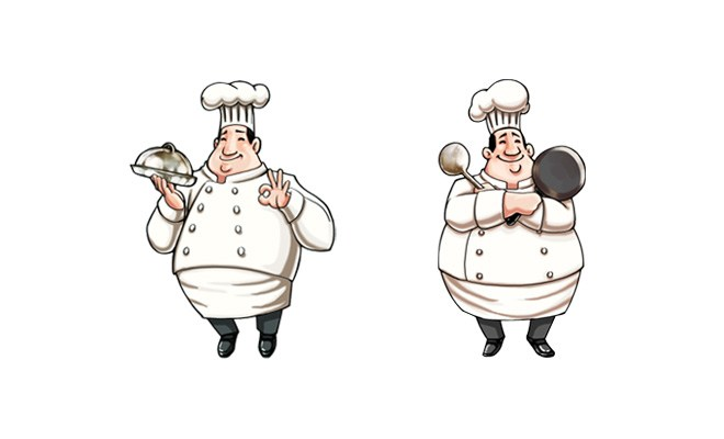 食神焖锅标志设计~