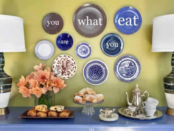 盘子也可以有装饰风格