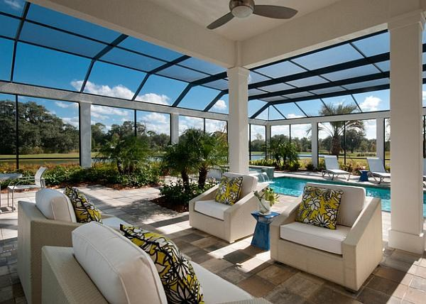 看看土豪们的室内游泳池
