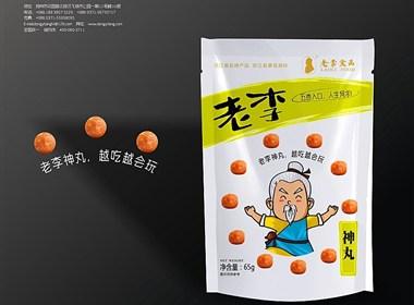 东意堂设计出品:老李食品-江湖老顽童系列