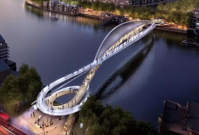 一座桥的投标方案,30种绚丽光影,下巴掉了