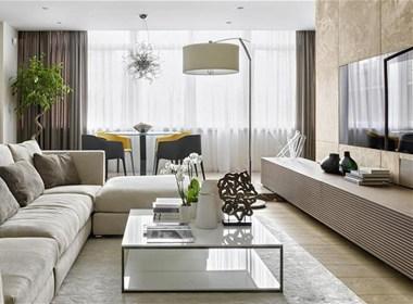 现代简约大地风公寓
