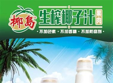 椰子汁海南展架设计模板