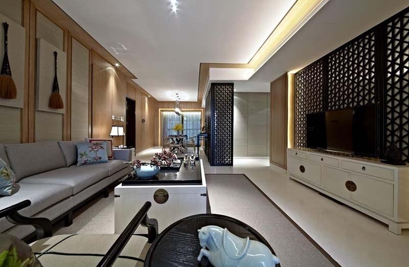 中洲中央公园新中式风格样板房设计