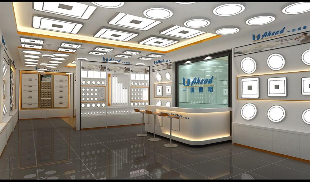 照明展厅设计 灯饰展厅设计 LED展厅设计-照明展厅设计图片