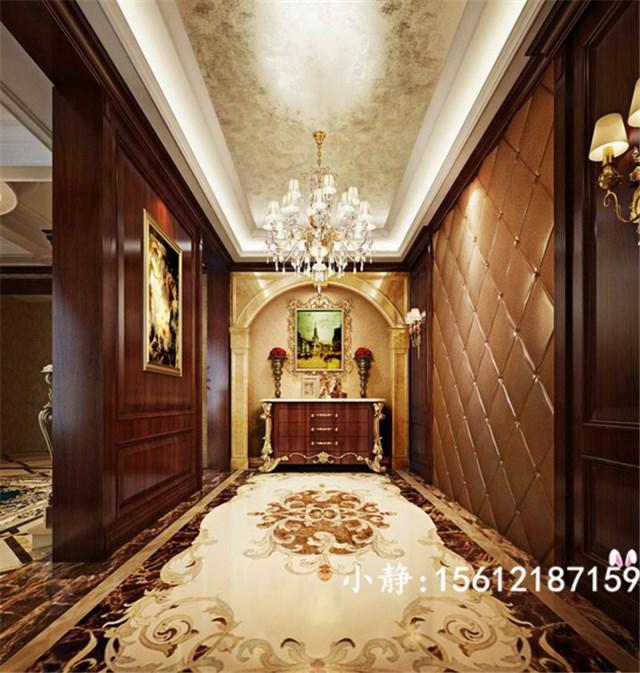 西山一号别墅a2户型430平欧式新古典风格装修效果图