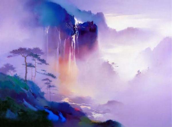 梁鸿健风景油画作品