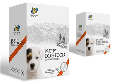 幼犬功能粮包装设计——尚唐作品