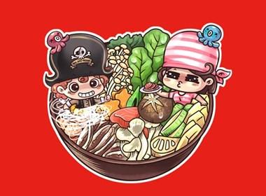 海盗船自助火锅—卡通形象