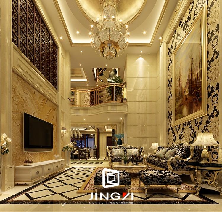 景逸效果图设计 —家装欧式别墅设计