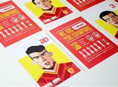 庆祝恒大夺亚冠 广州恒大2015闪耀亚洲创意球星卡发布