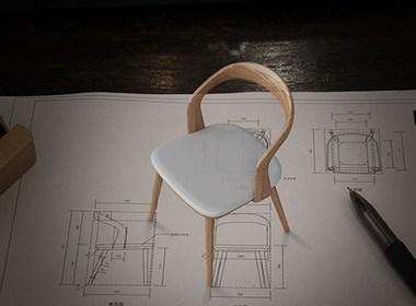 木迹制品 U Chair 实木椅