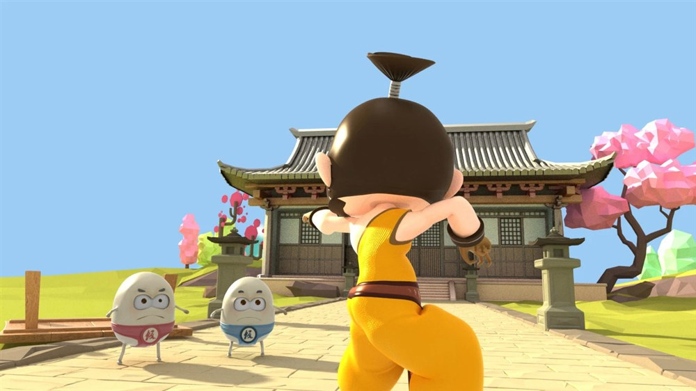 3D搞怪国风短片#功夫打饭