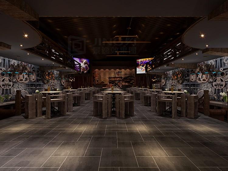 景逸效果圖設計 —個性酒吧工裝設計
