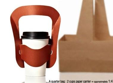时尚的创意饮料外卖包装设计