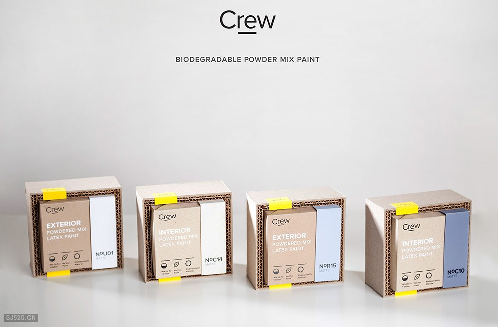 Crew图形包装设计欣赏www.sj520.cn