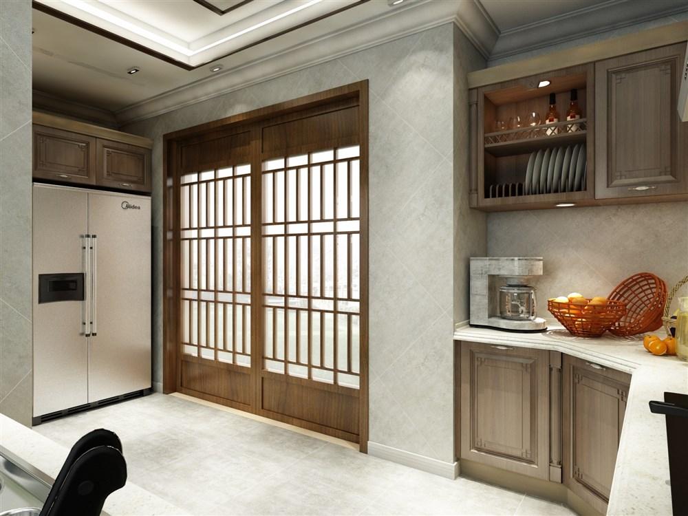 新中式厨房-中国设计网